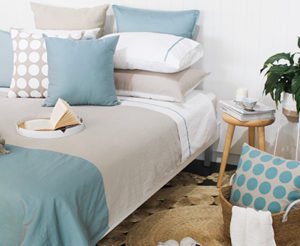 thread design blue bedding